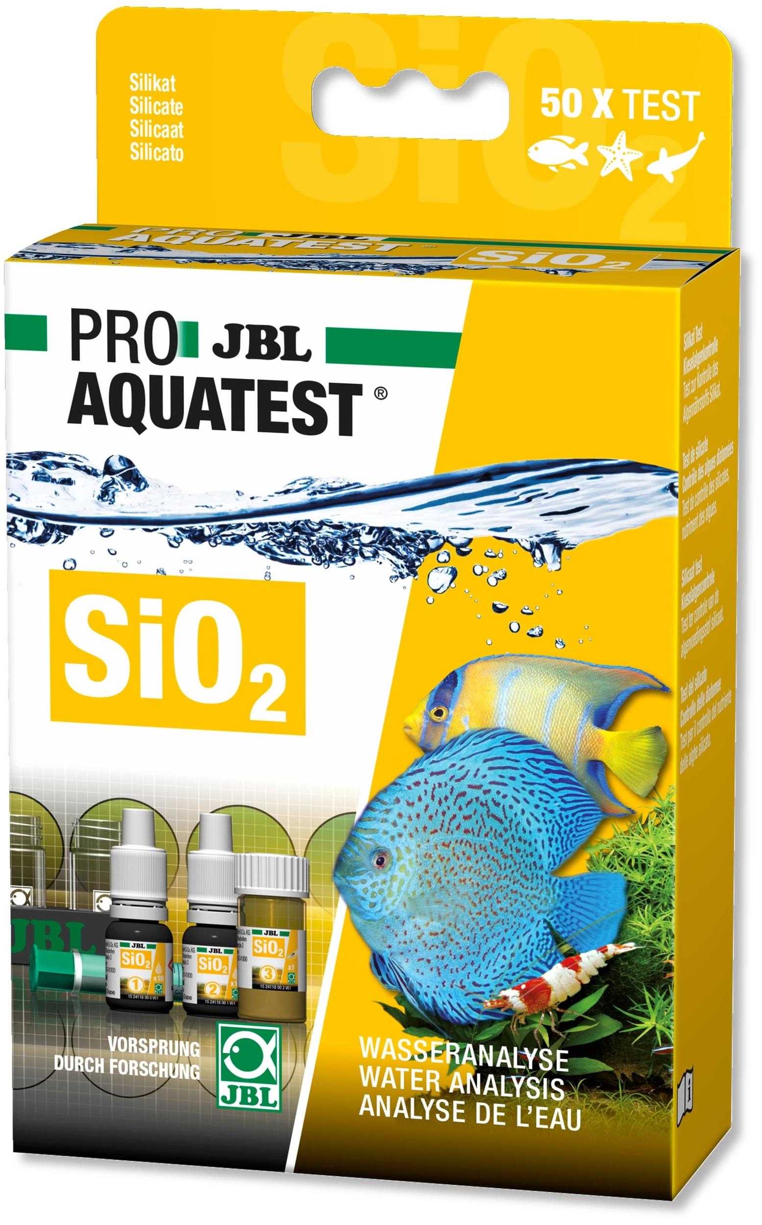 JBL ProAquaTest SiO2 test Silicate pour aquarium d\'eau douce et eau de mer
