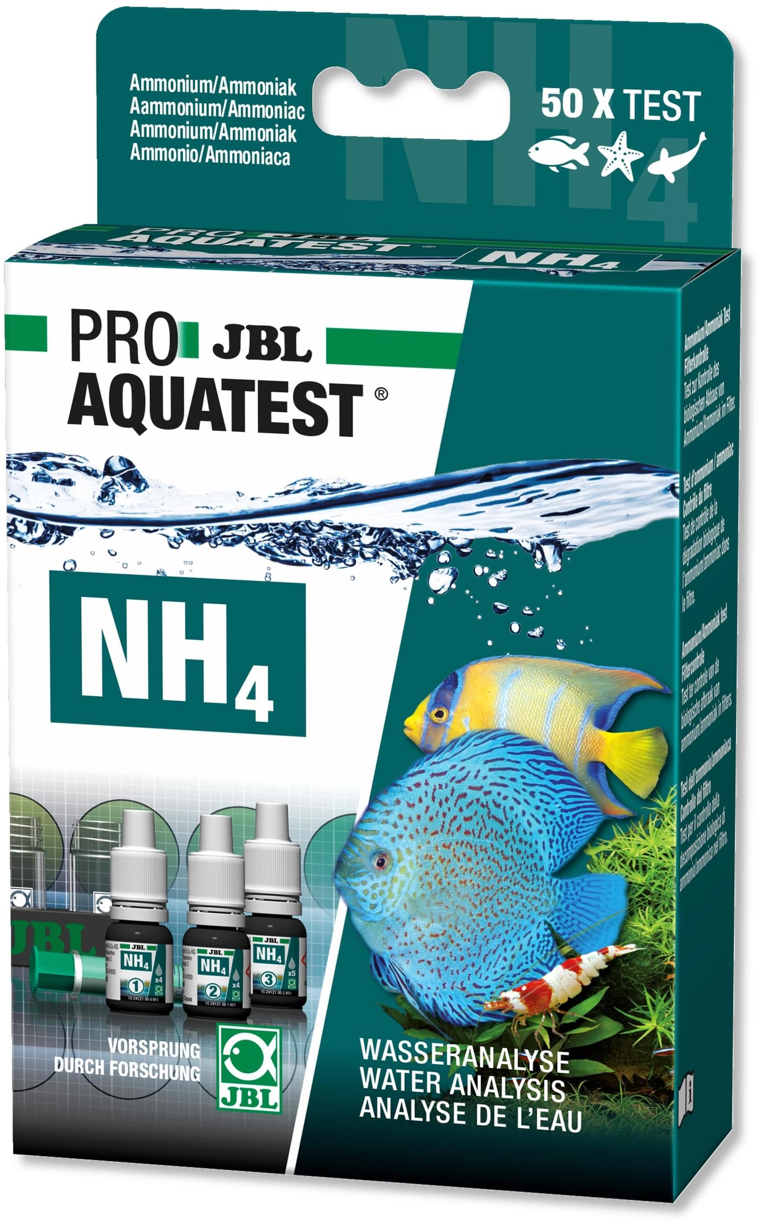 JBL ProAquaTest NH4 test Ammonium/Ammoniaque pour aquarium d\'eau douce, eau de mer et bassin