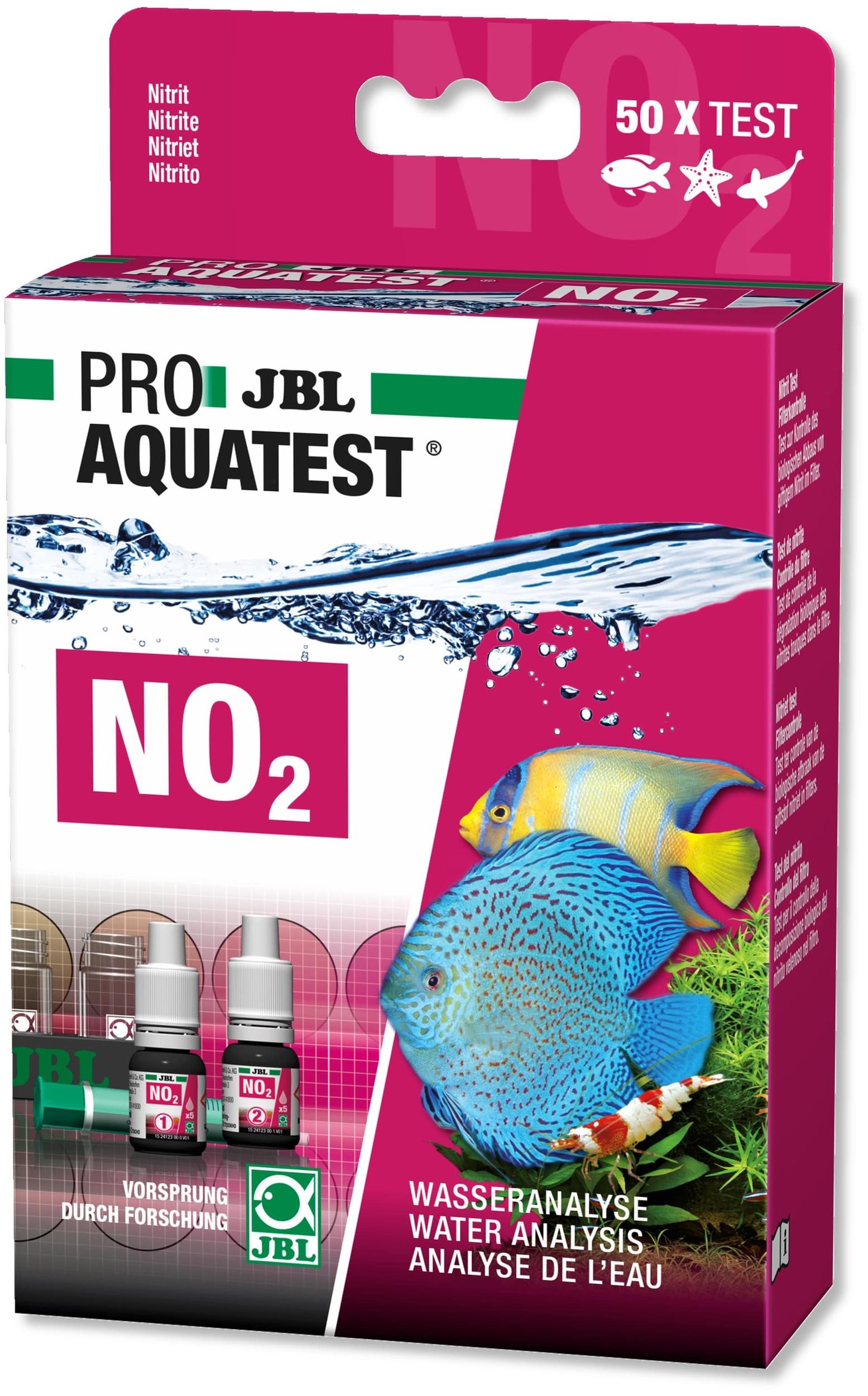 JBL ProAquaTest NO2 test Nitrite pour aquarium d\'eau douce, eau de mer et bassin