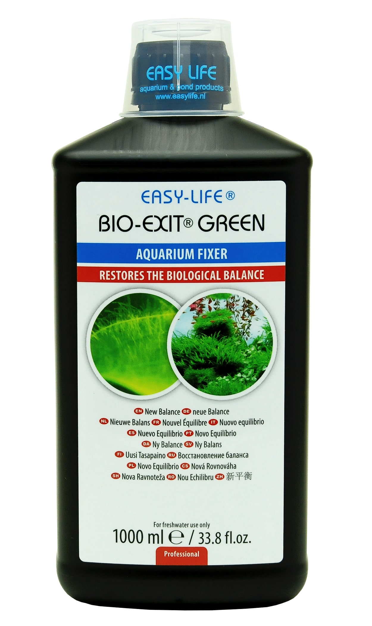 EASY-LIFE Bio-Exit Green 1000 ml traitement de rééquilibrage biologique pour aquarium d\'eau douce