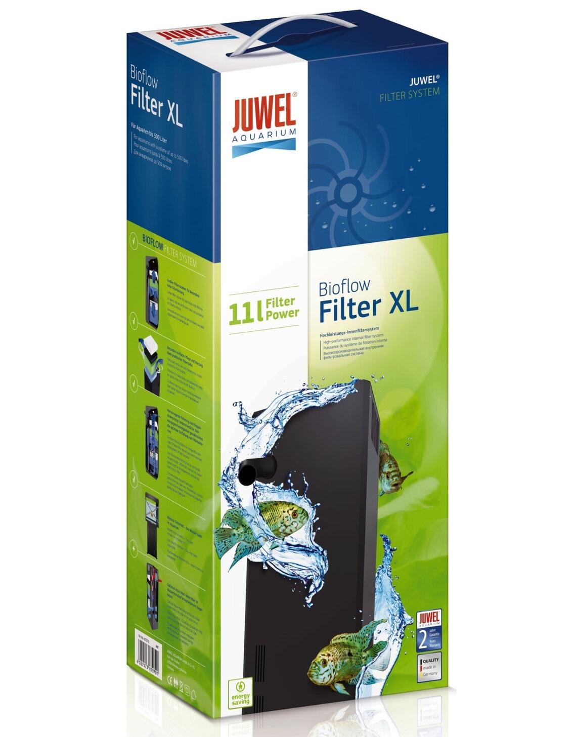 JUWEL BioFlow XL filtre biologique à décantation de 11L pour aquarium jusqu\'à 500L. Livré complet.