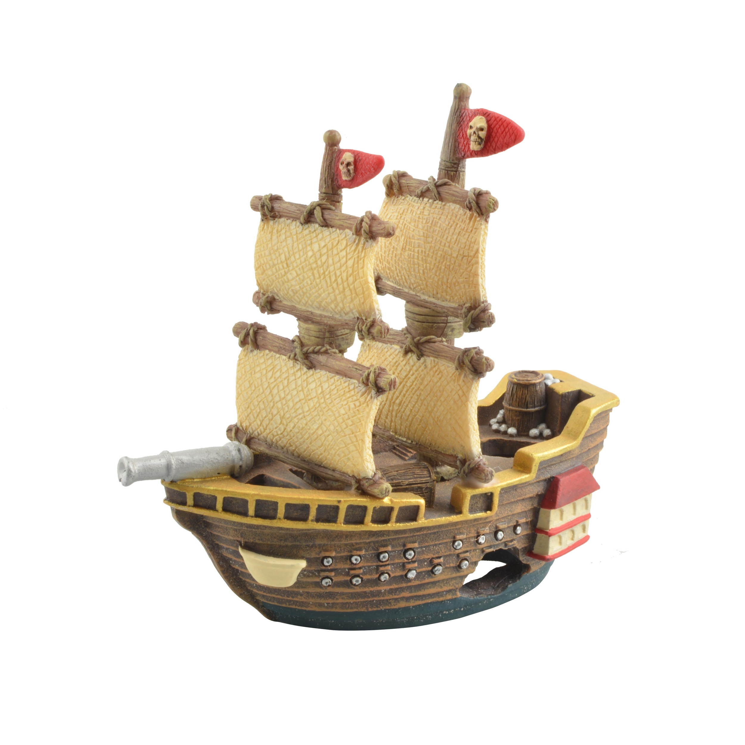 AQUAVIE Bateau Pirate Kid décoration aquarium 14 x 6 x 14 cm