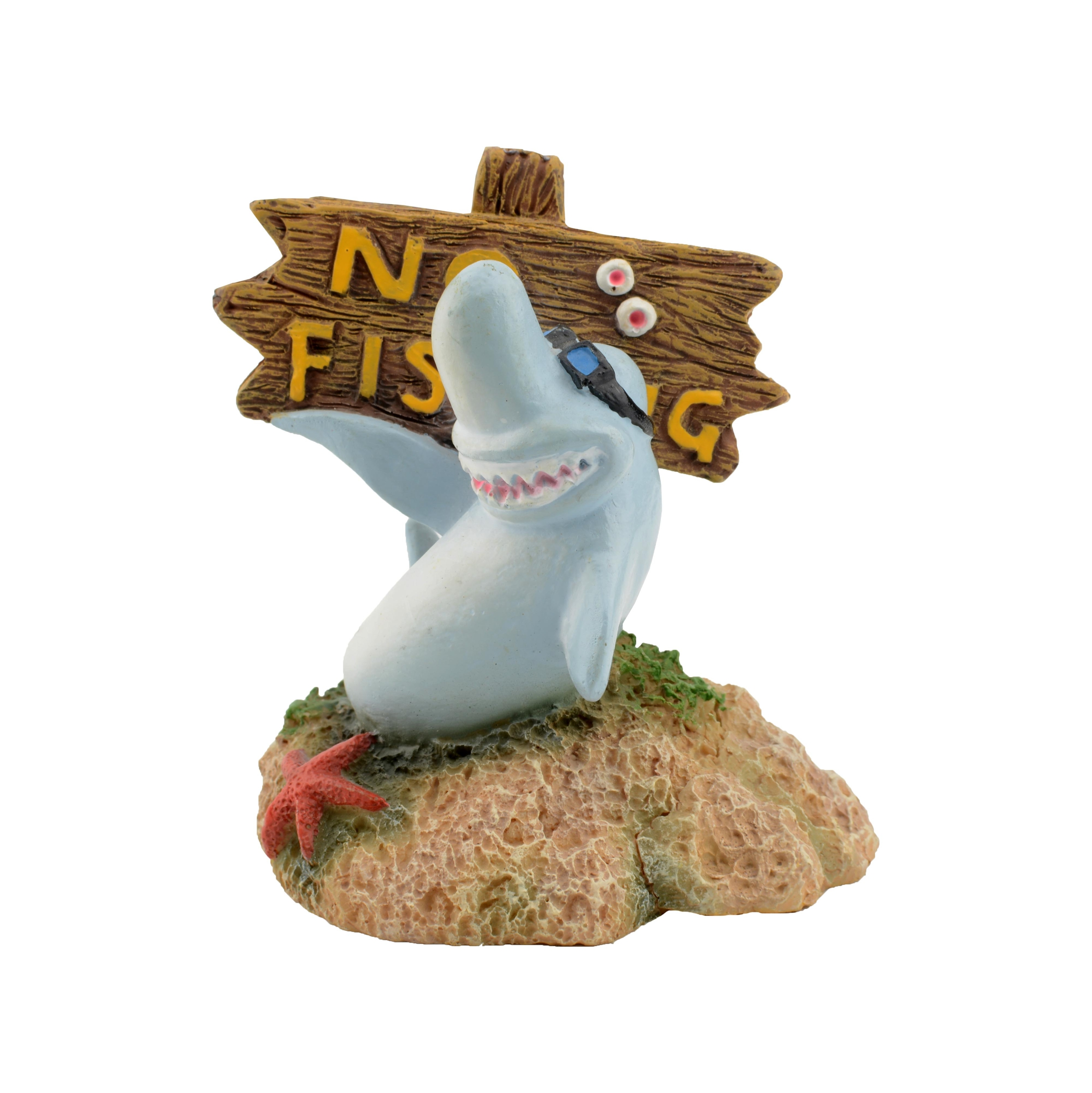 AQUAVIE Fun Requin Panneau décoration aquarium 5 x 5 x 6,5 cm
