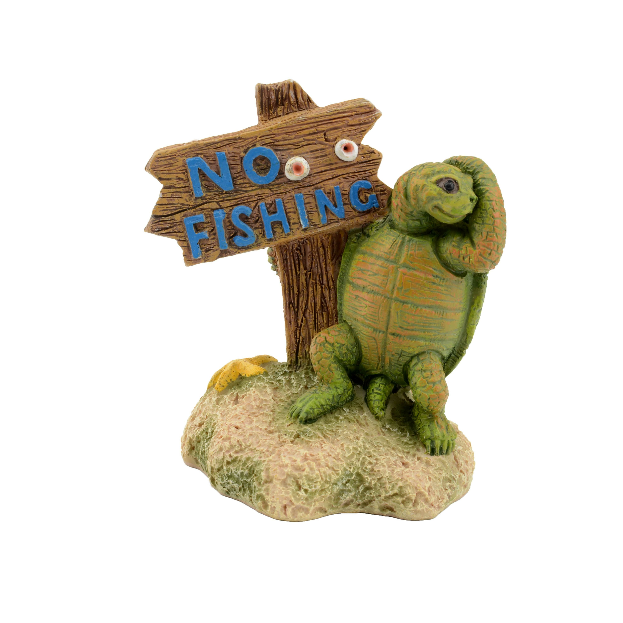 AQUAVIE Fun Tortue Panneau décoration aquarium 7 x 6 x 8,5 cm