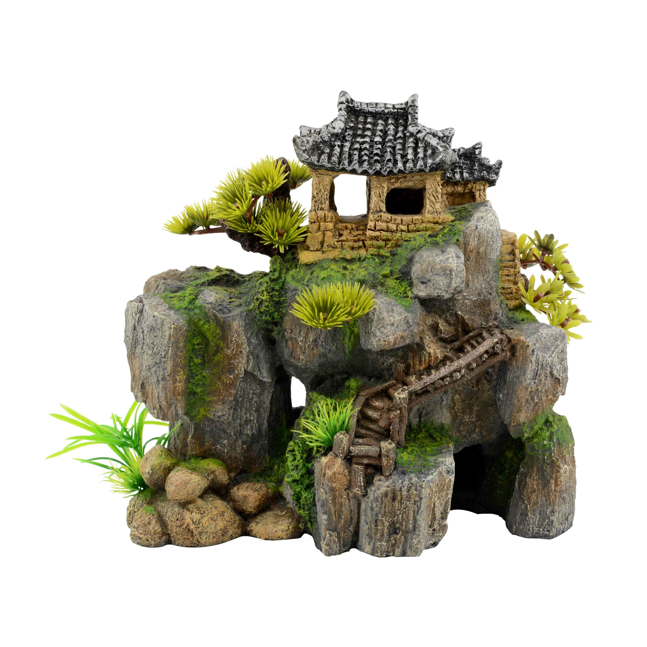 AQUAVIE Habitat Asia House décoration aquarium 28 x 18 x 24,5 cm