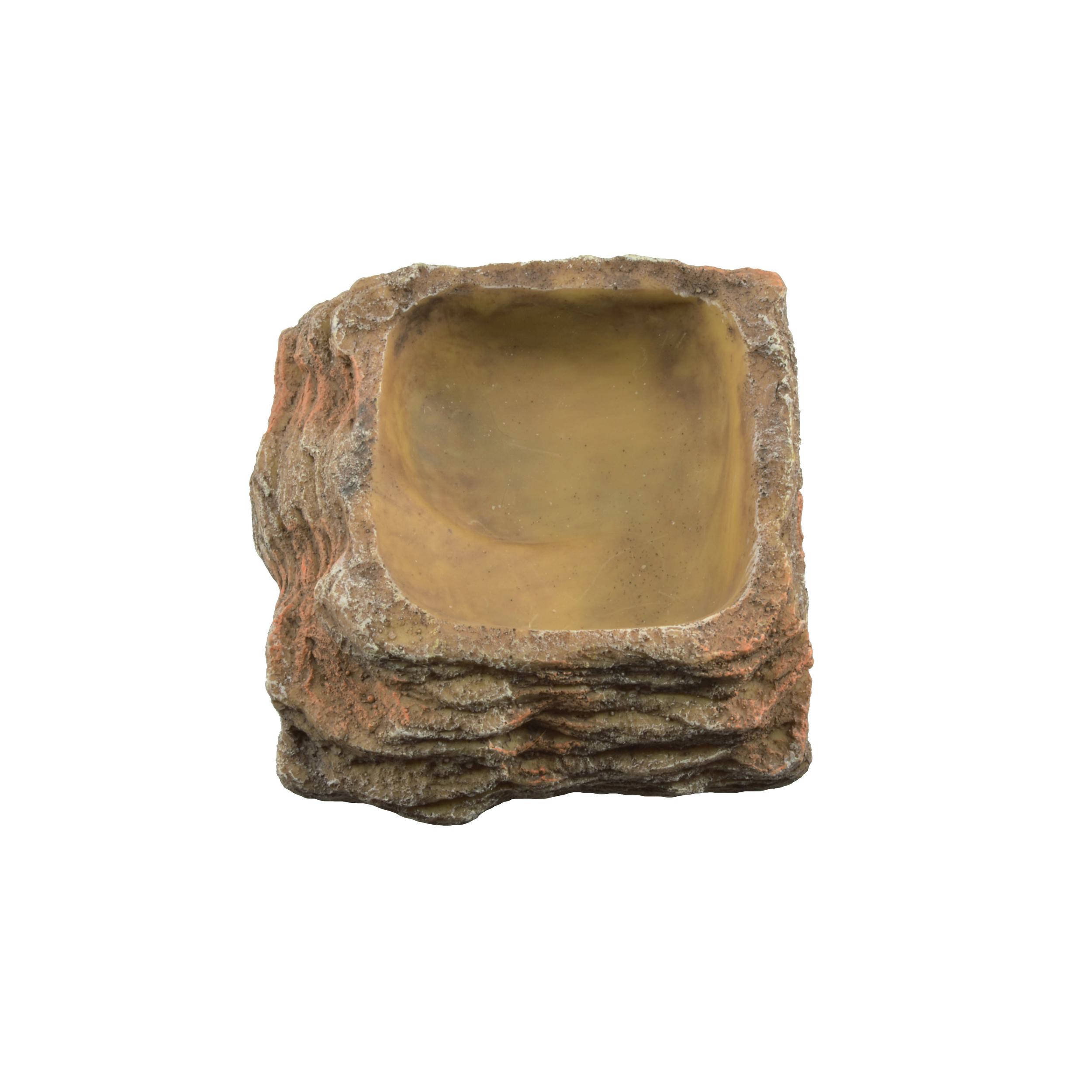 AQUAVIE Terra Abreuvoir Roche pour terrarium 10,5 x 10,5 x 3,5 cm