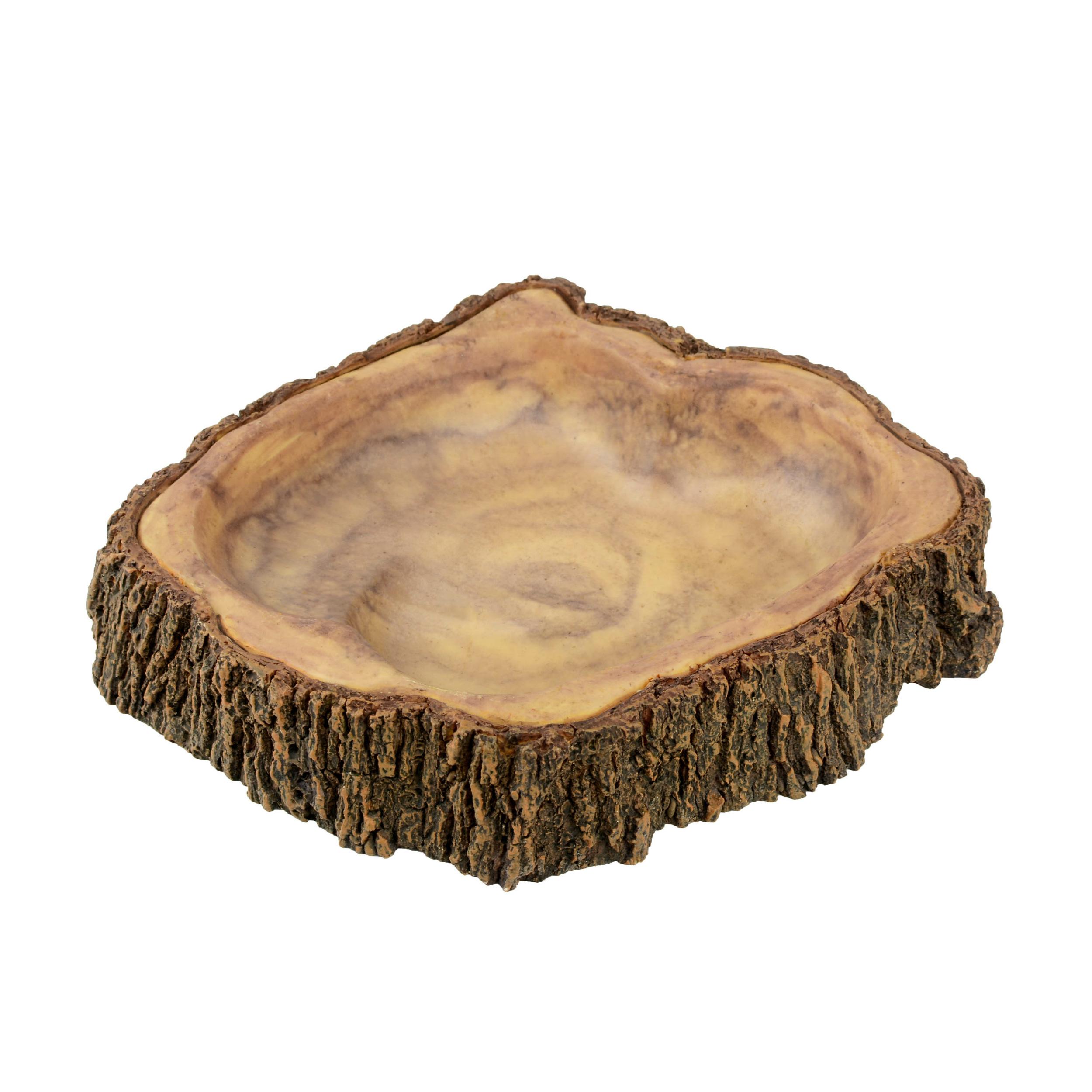 AQUAVIE Terra Abreuvoir Bois pour terrarium 17 x 15,7 x 3,5 cm