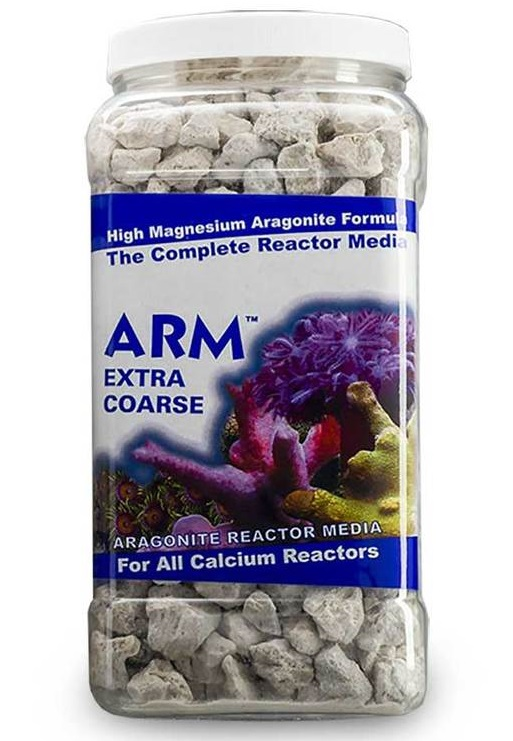 CARIBSEA ARM Extra Coarse 3,80L média d\'Aragonite gros 10/15 mm pour réacteurs à calcium