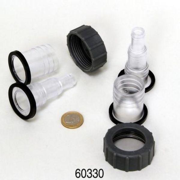JBL Lot de 2 raccords de tuyau pour stérilisateurs JBL AquaCristal 9W à 36W Réf. JBL 60330