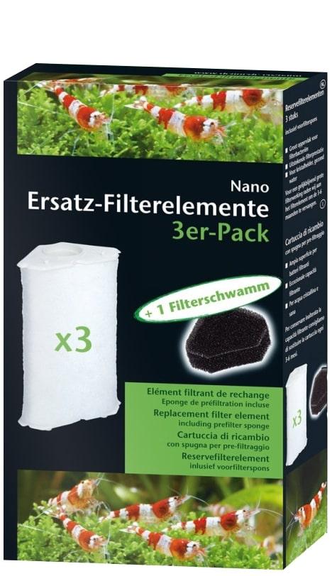 DENNERLE Lot de 3 cartouche de filtration Nano Clean pour filtres d\'angle normal et XL