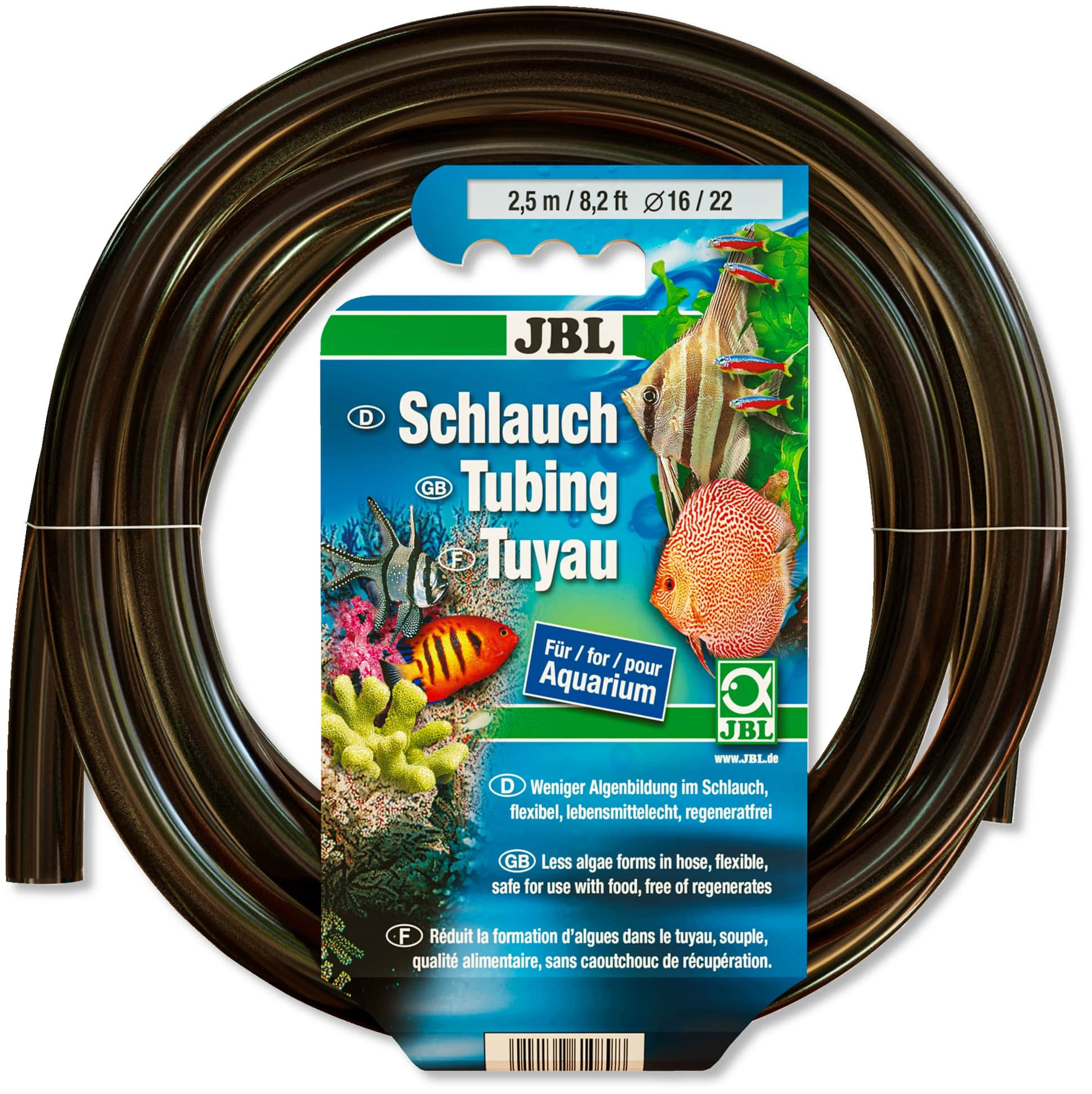 JBL Tuyau gris-transparent 16/22 2,5m anti-algues