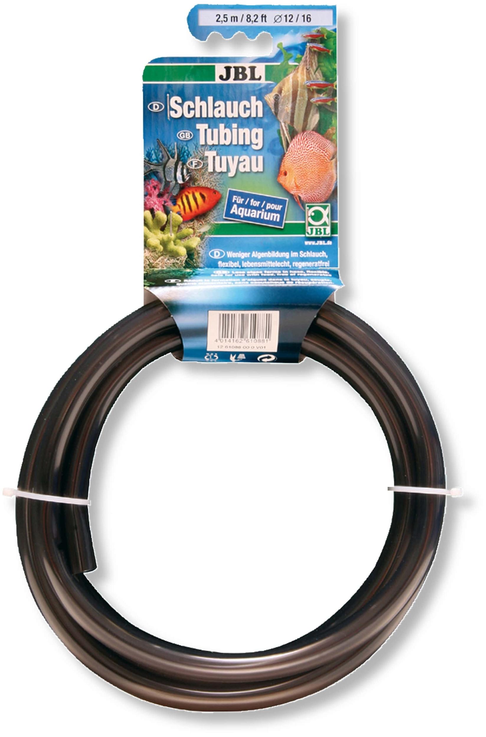 JBL Tuyau gris-transparent 12/16 2,5m anti-algues