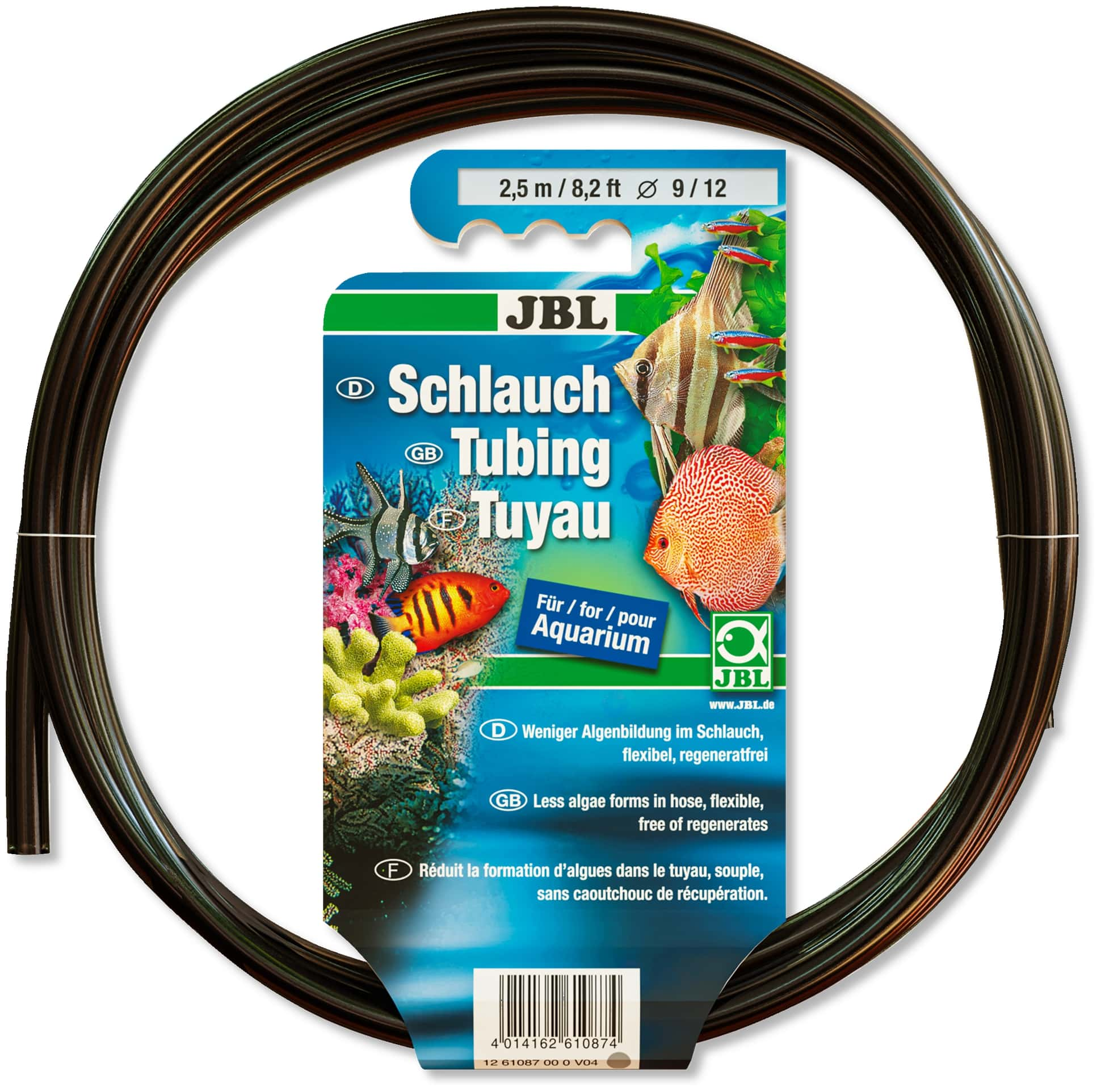 JBL- Tuyau gris-transparent 9/12 2,5m anti-algues