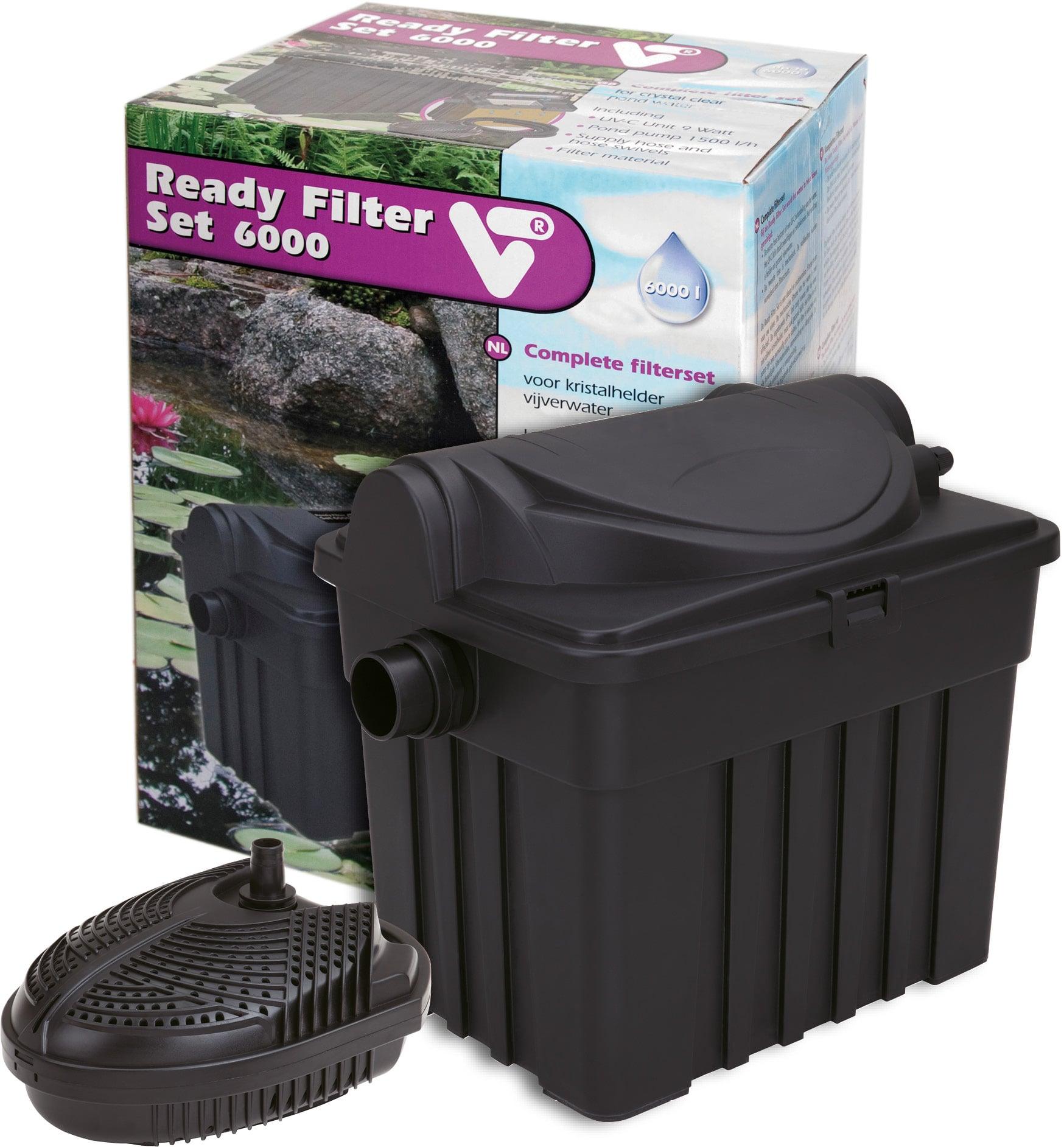 VT Ready Filter Set 6000 kit de filtration avec stérilisateur UV-C 9W et pompe 1500 L/h pour bassin jusqu\'à 6000 L