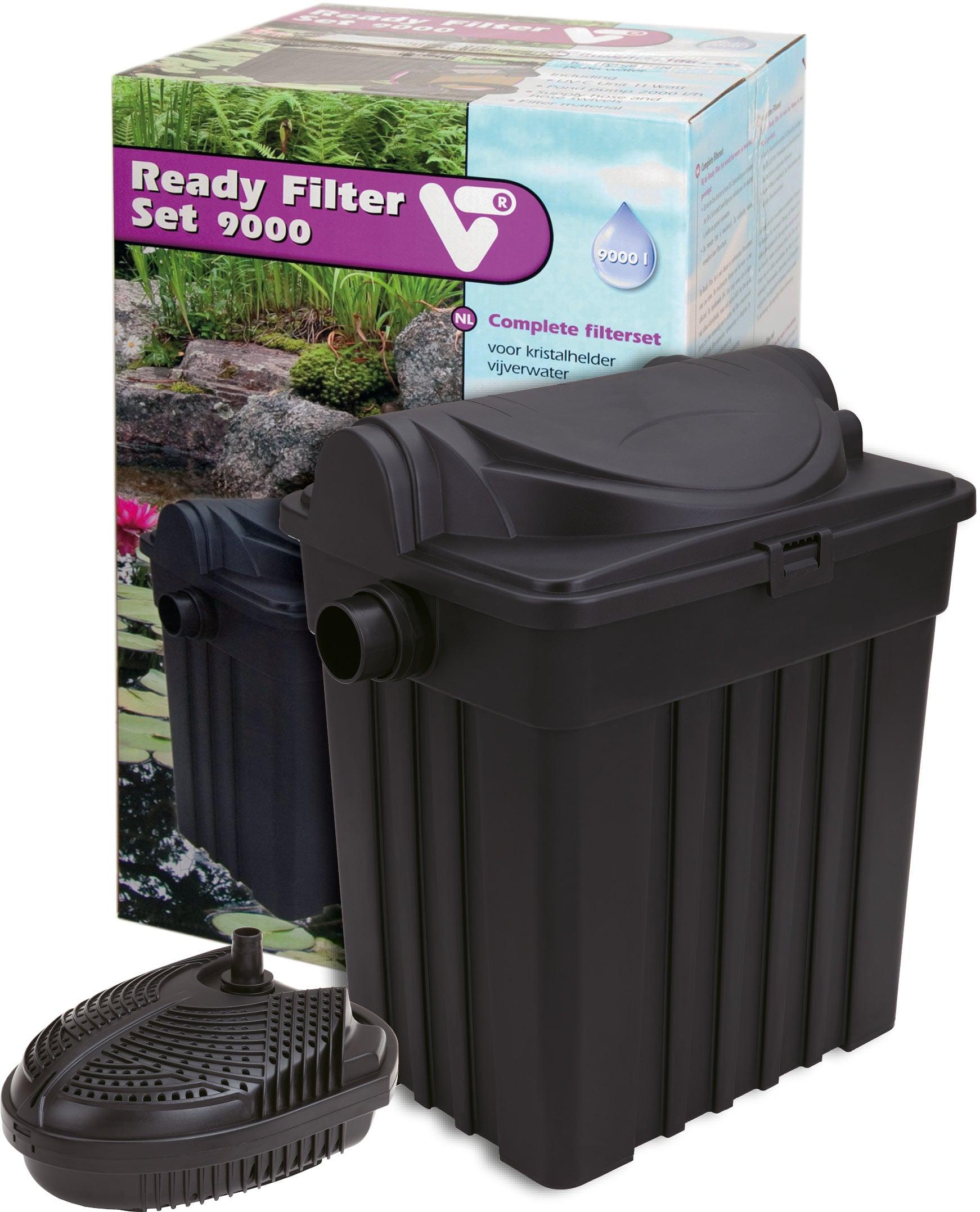 VT Ready Filter Set 9000 kit de filtration avec stérilisateur UV-C 11W et pompe 2000 L/h pour bassin jusqu\'à 9000 L