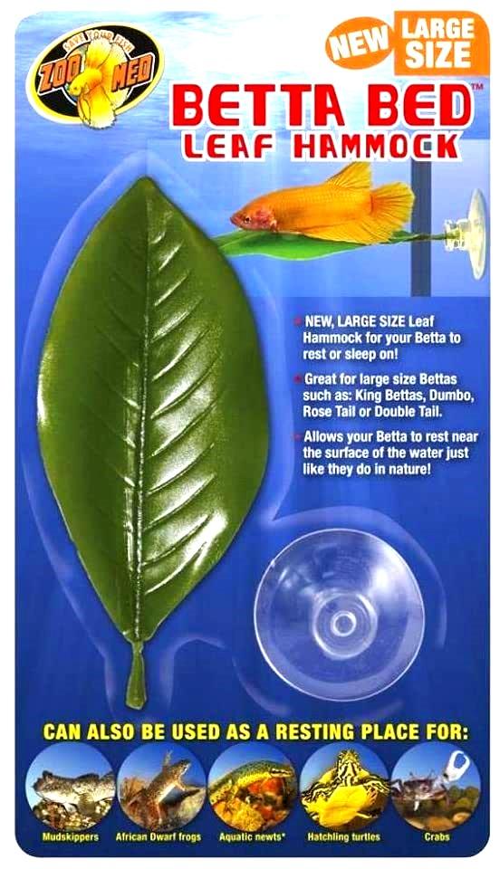 ZOOMED Betta Bed Leaf Hammock Large hamac sous forme de feuille artificielle pour Betta