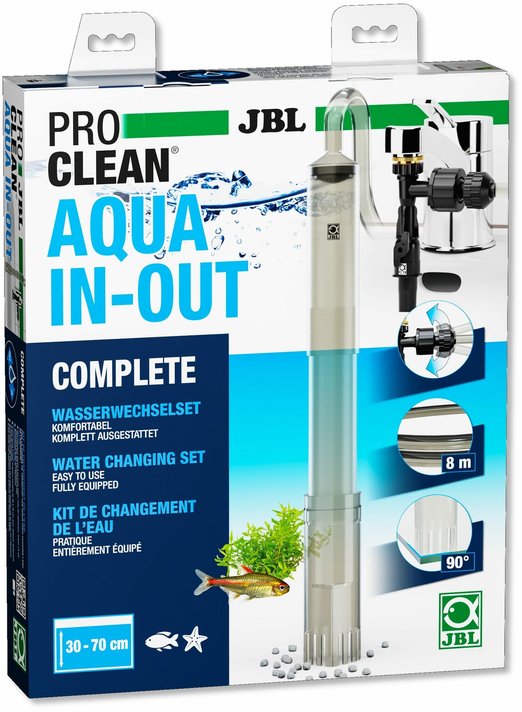 JBL ProClean Aqua In-Out set complet avec cloche à vase pour changements d\'eau et remplissage de l\'aquarium