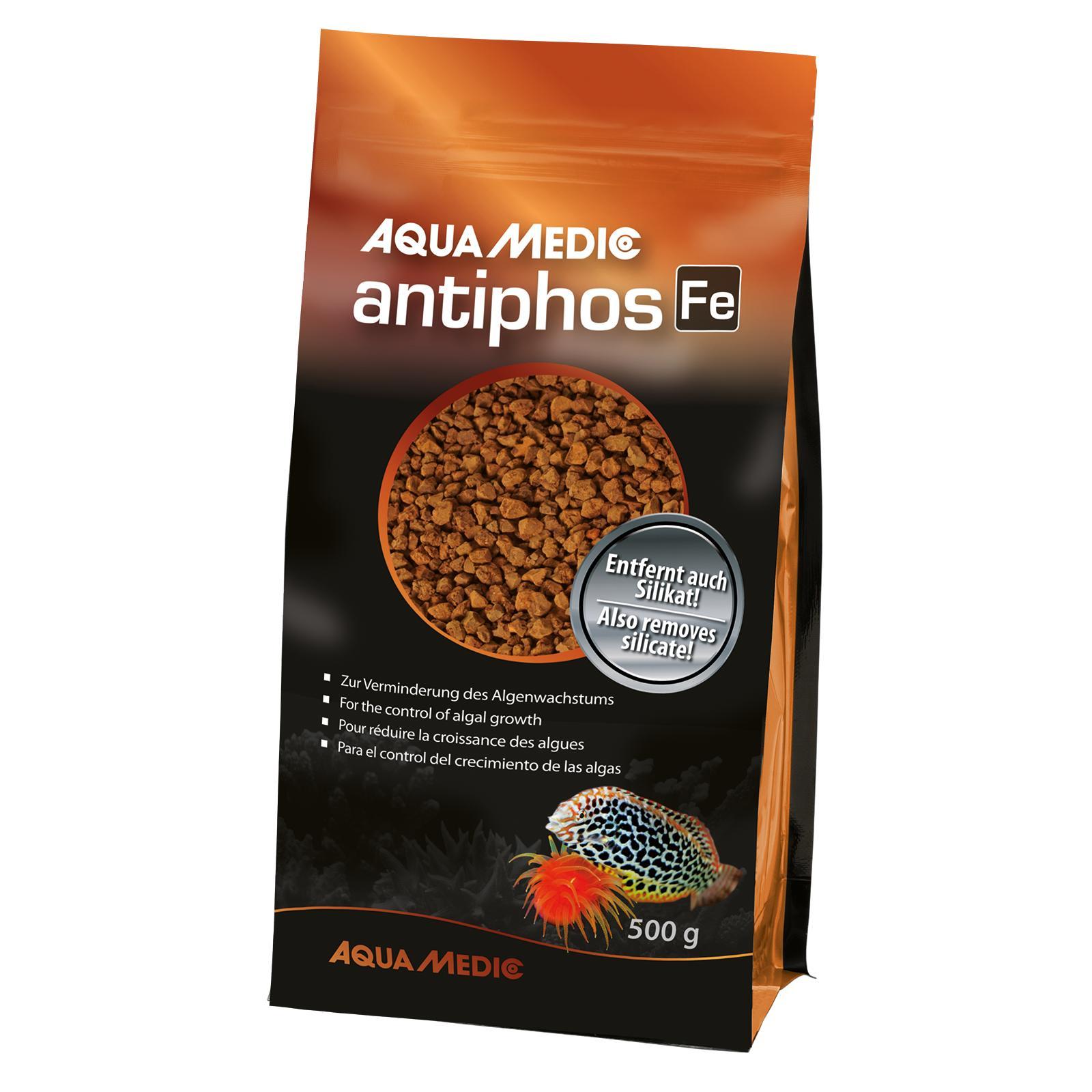 AQUA MEDIC Antiphos Fe 800 ml élimine les phosphates en eau douce et en eau de mer