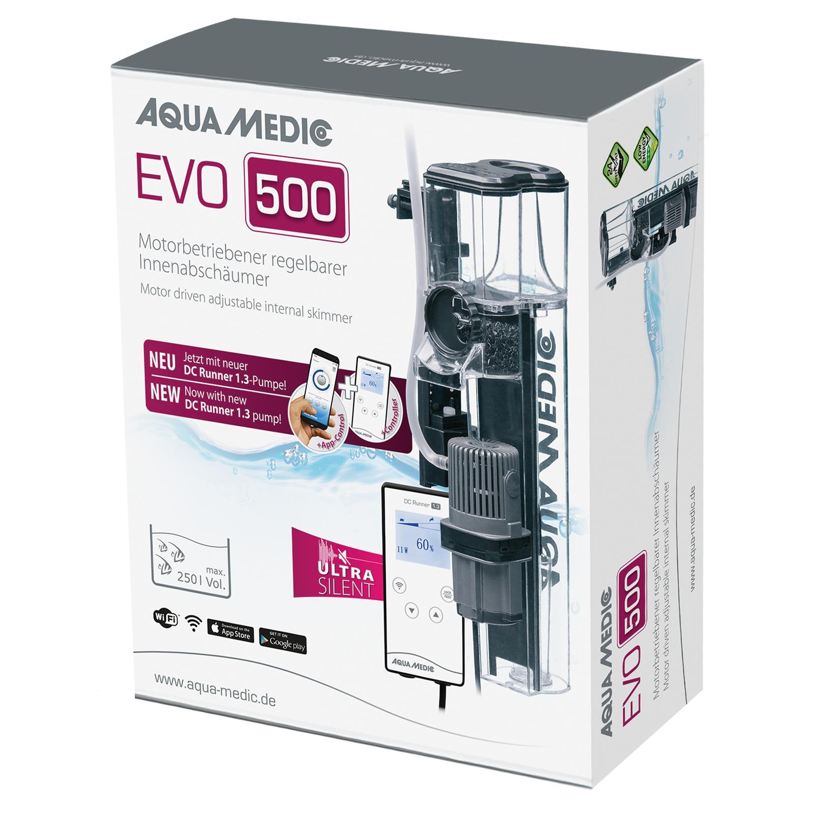 AQUA MEDIC EVO 500 DC Runner 1.3 écumeur interne pour aquarium jusqu\'à 250 L