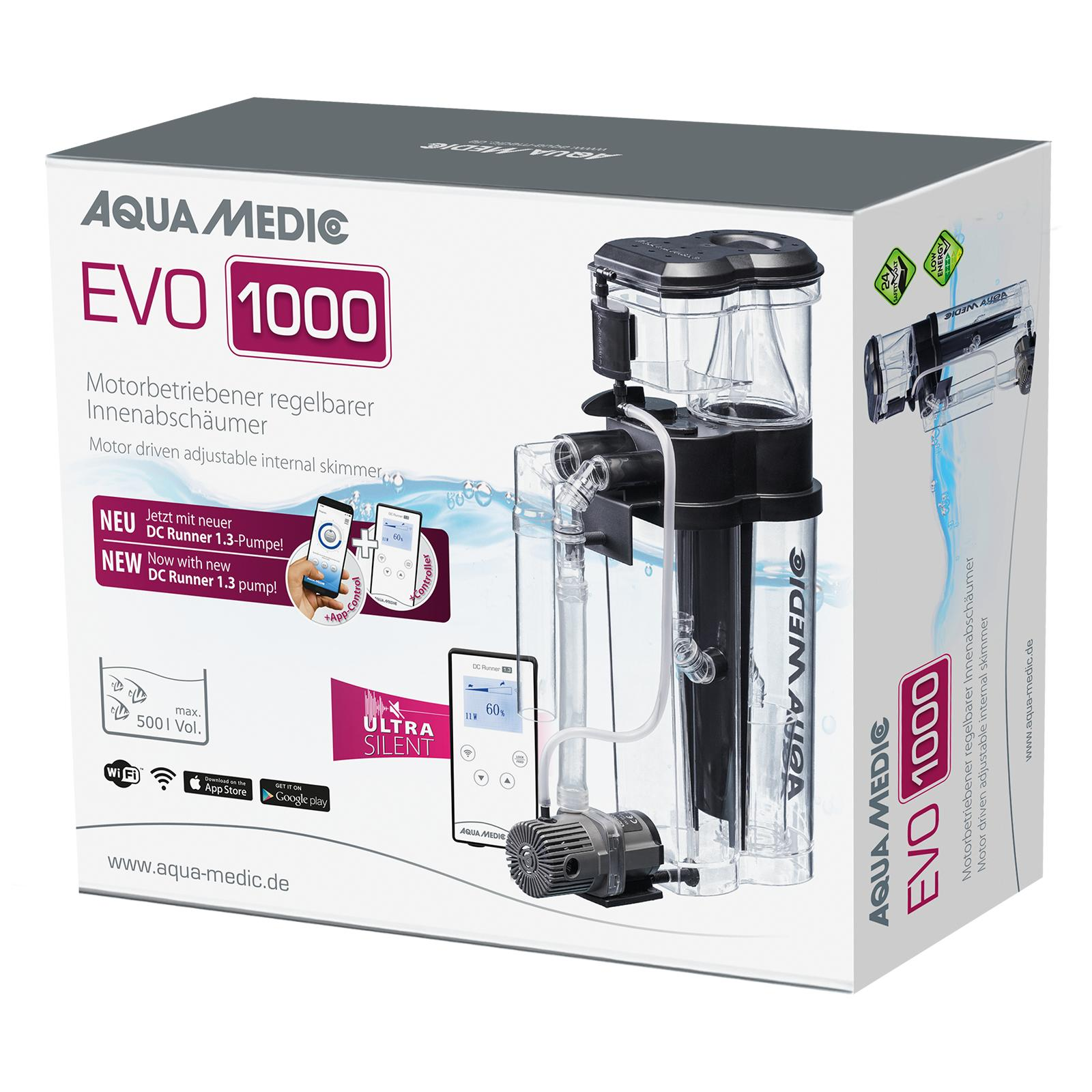 AQUA MEDIC EVO 1000 DC Runner 1.3 écumeur externe pour aquarium jusqu\'à 500 L