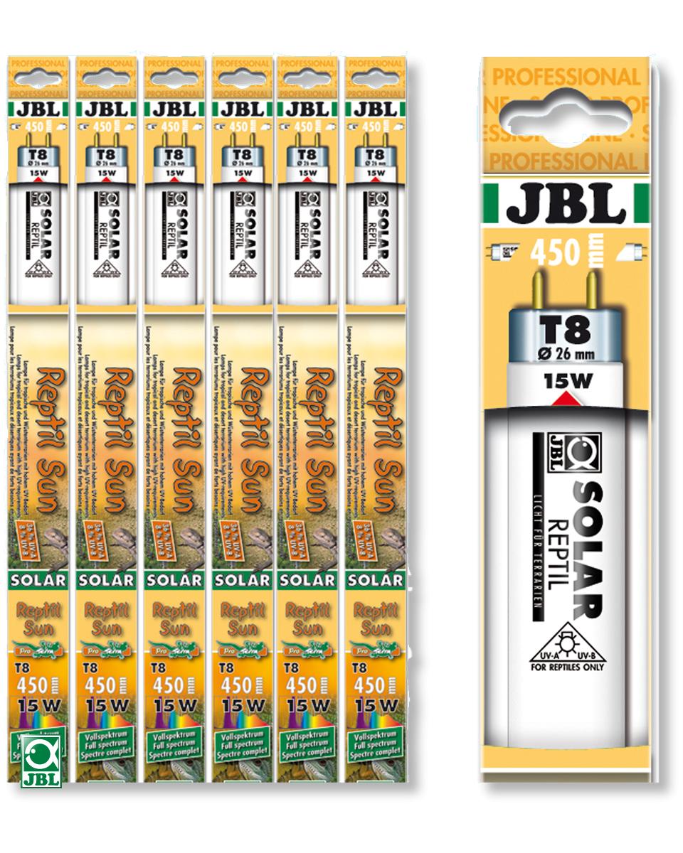 JBL Solar Reptil Sun T8 tubes fluorescents spéciaux pour terrariums de type désertique (6000°k). 6 longueurs aux choix