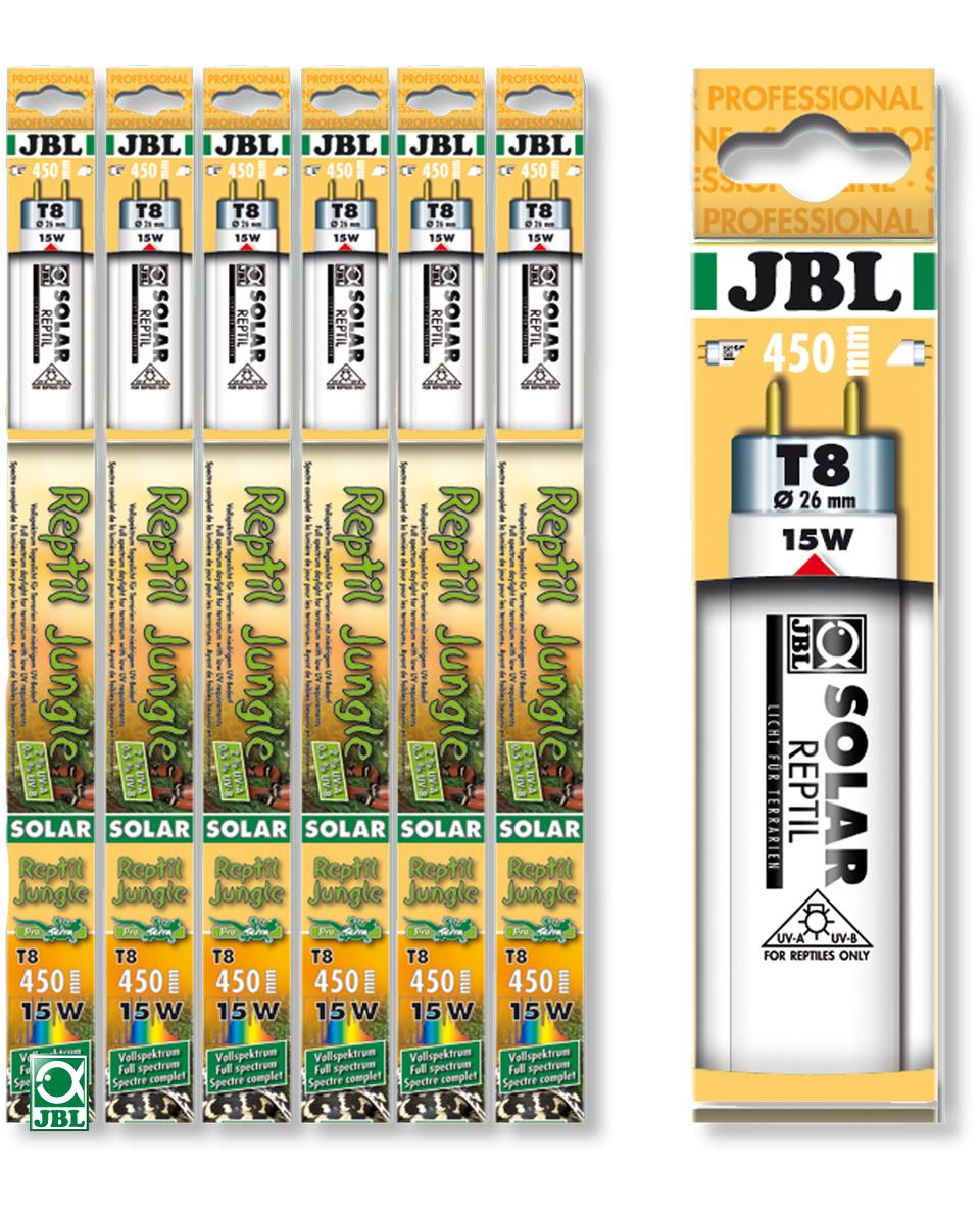 JBL Solar Reptil Jungle T8 tubes fluorescents spéciaux pour terrariums de type forêt tropical (9000°k). 6 longueurs aux choix