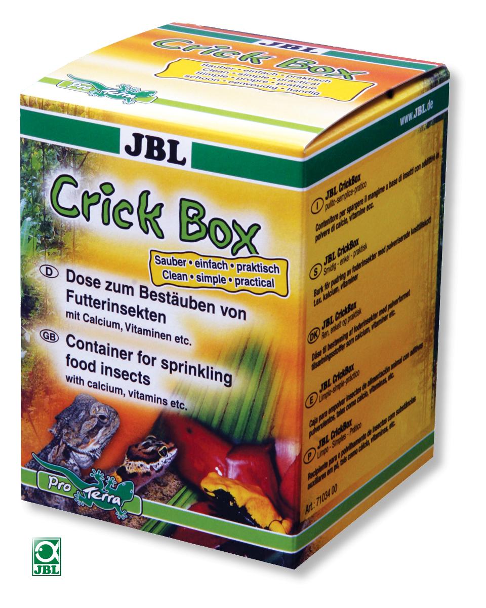 JBL CrickBox boîte saupoudreuse pour enrichir les aliments à base d\'insectes