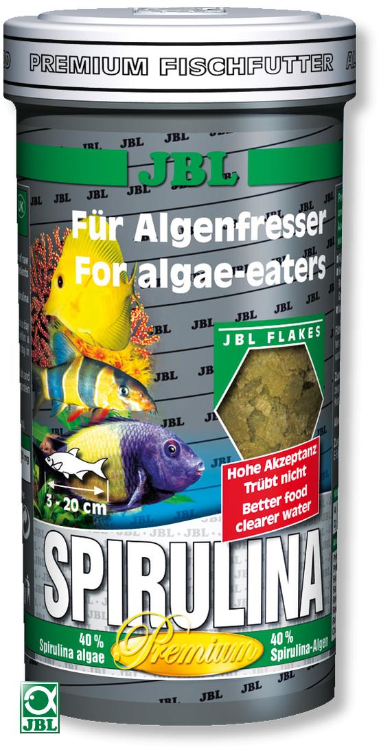JBL Spirulina 100 ml flocons spéciaux pour mangeurs d\'algues en eau douce et de mer