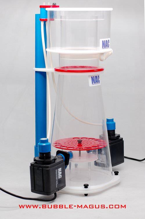 BUBBLE MAGUS C77 écumeur interne conique, bi-pompes pour aquarium entre 800L et 1200L