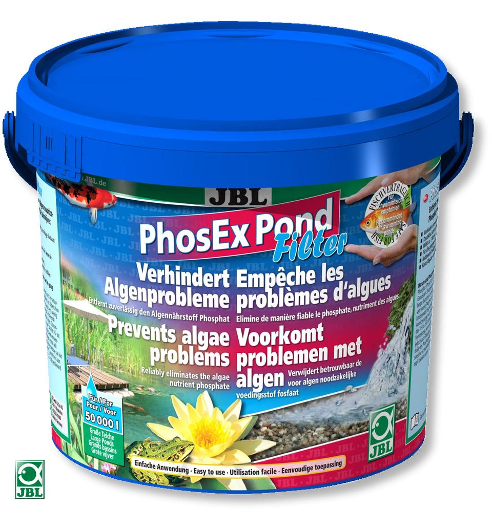JBL PhosEx Pond Filter 2,5 KG éliminateur de phosphates pour lutter contre les algues dans les bassins 25000 L