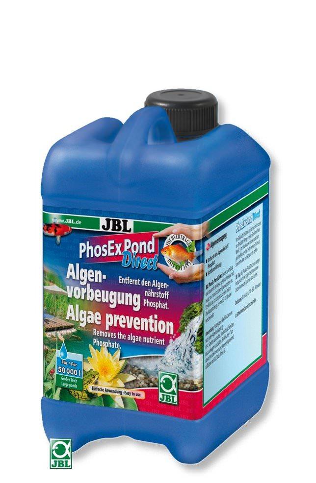 JBL PhosEx Pond Direct 2,5 L élimine les phosphates afin de supprimer les algues dans les bassins jusqu\'à 50000 L