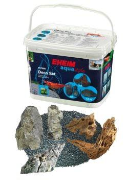 EHEIM DecoSet set de décoration naturel pour nano aquarium, avec roches, racines, et sable.