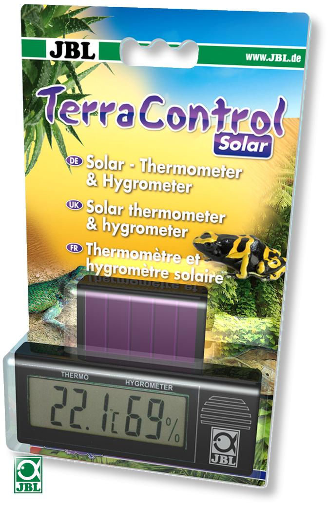 JBL TerraControl Solar thermomètre / hygromètre digital sans piles fonctionne avec l\'énergie lumineuse dans les terrariums