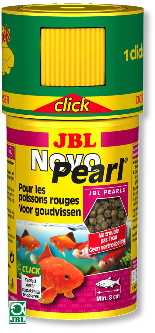 JBL NovoPearl Click 100 ml nourriture en perles pour poissons rouge et voiles de Chine avec doseur