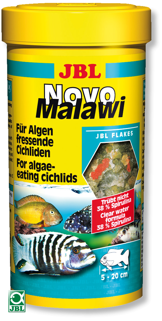 JBL NovoMalawi 250 ml pour cichlidés rongeurs d\'algues des lacs Malawi / Tanganyika