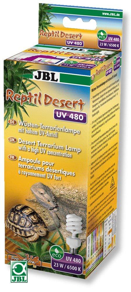 JBL Reptil Desert UV 480 ampoule basse consommation 23 W, 6500 K à très forte proportion d\'UVA et d\'UVB pour terrariums