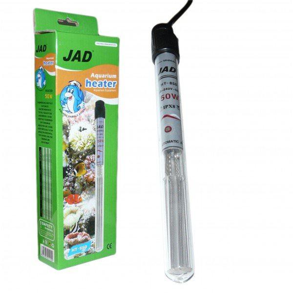 JAD HT-8100 Chauffage 100w avec thermostat automatique intégré pour aquarium de 90 à 150 litres.