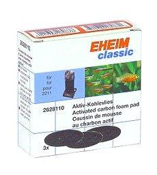 EHEIM 3 coussins de mousse filtrante au charbon actif pour filtre Classic 2011 et 2211