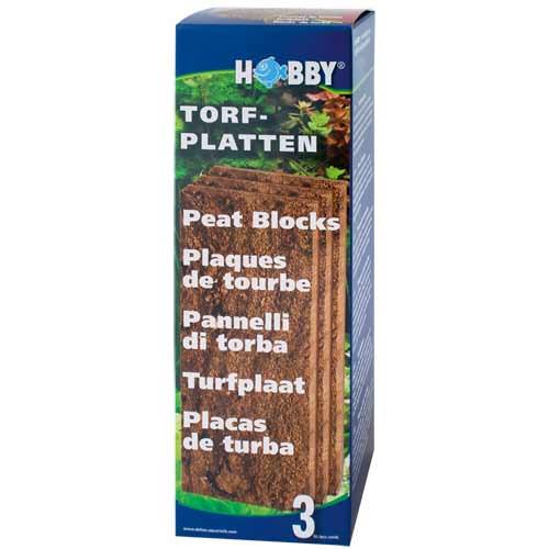 HOBBY Lot de 3 plaques de tourbe, acidifie l\'eau et empêche la formation d\'algues