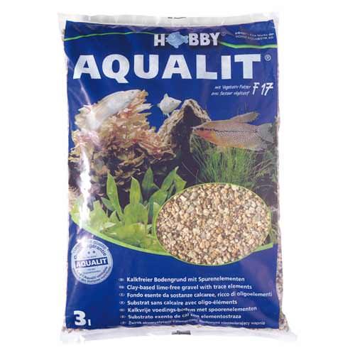HOBBY Aqualit 3 litres substrat décoratif et nutritif sans calcaire avec oligo-éléments