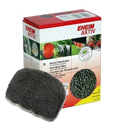 EHEIM Aktiv 2L charbon très actif pour l\'élimination rapide des substances nocives dissoutes et les résidus médicamenteux