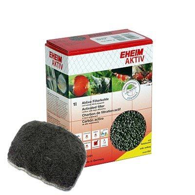 EHEIM Aktiv 1L charbon très actif pour l\'élimination rapide des substances nocives dissoutes et les résidus médicamenteux