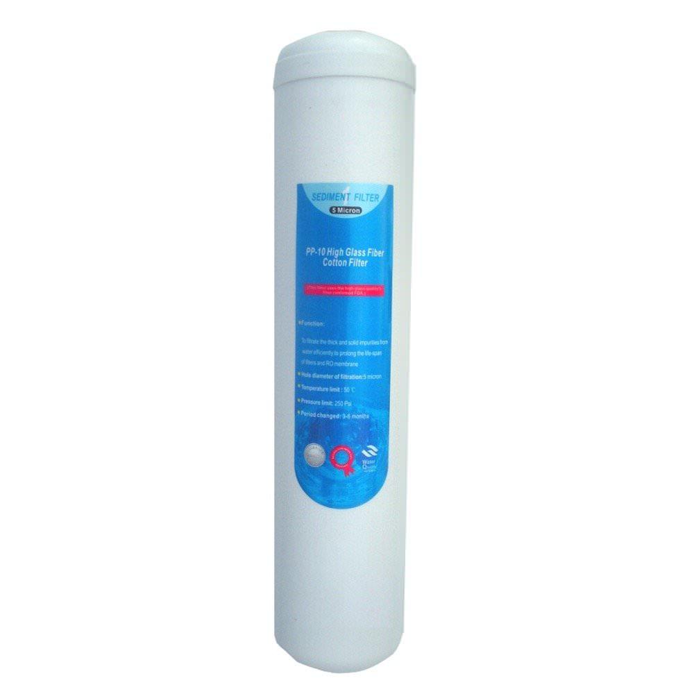 AKOUASHOP Cartouche PP à sédiment 5 microns pour osmoseur 50 GPD à 100 GPD