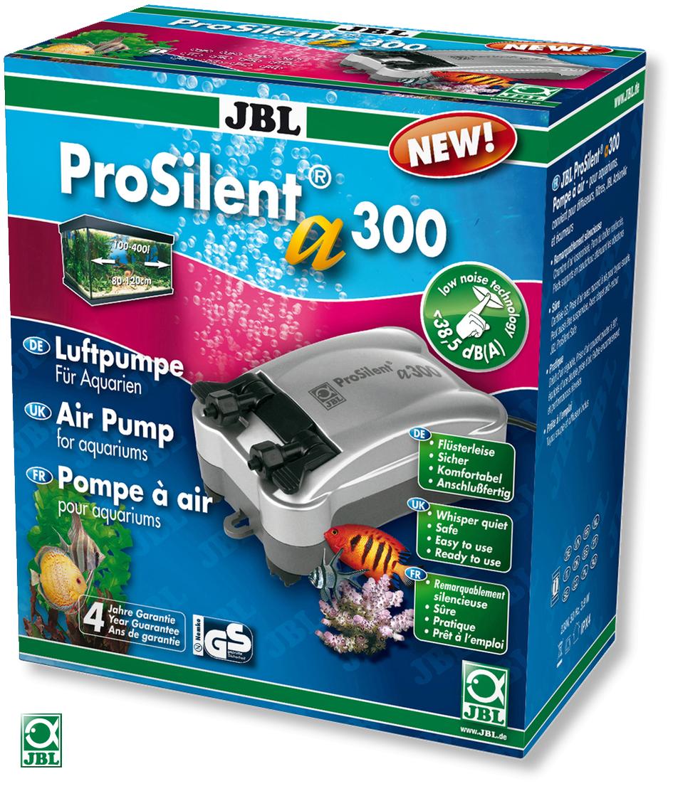 JBL ProSilent a300 pompe à air silencieuse de 300L/h à double sortie, avec accessoires pour aquarium de 100 à 400L