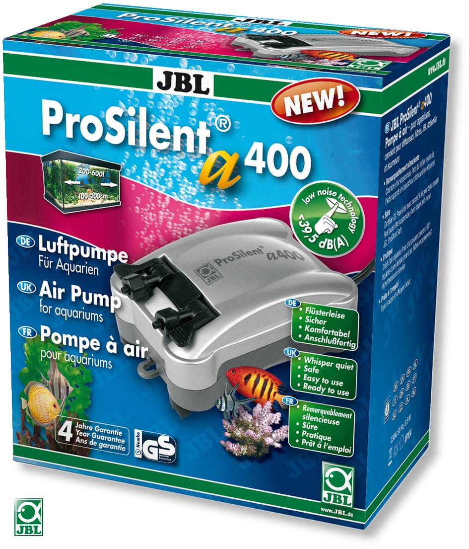 JBL ProSilent a400 pompe à air silencieuse de 400L/h à double sortie, avec accessoires pour aquarium de 200 à 600L