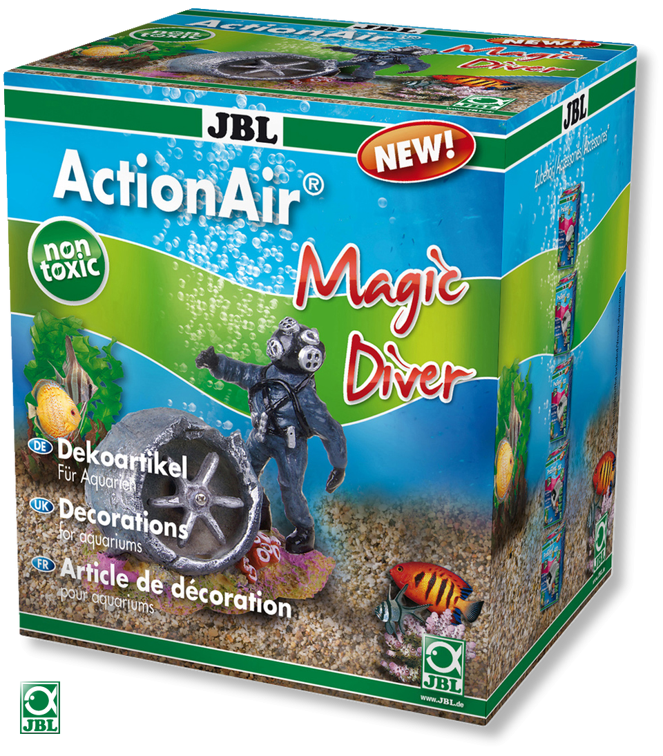 JBL ActionAir Magic Diver diffuseur scaphandrier avec avion créant un mouvement de l\'hélice au passage de l\'air