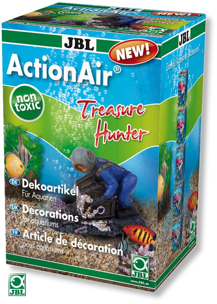 JBL ActionAir Treasure Hunter diffuseur scaphandrier créant l\'ouverture d\'un coffre au tresor au passage de l\'air