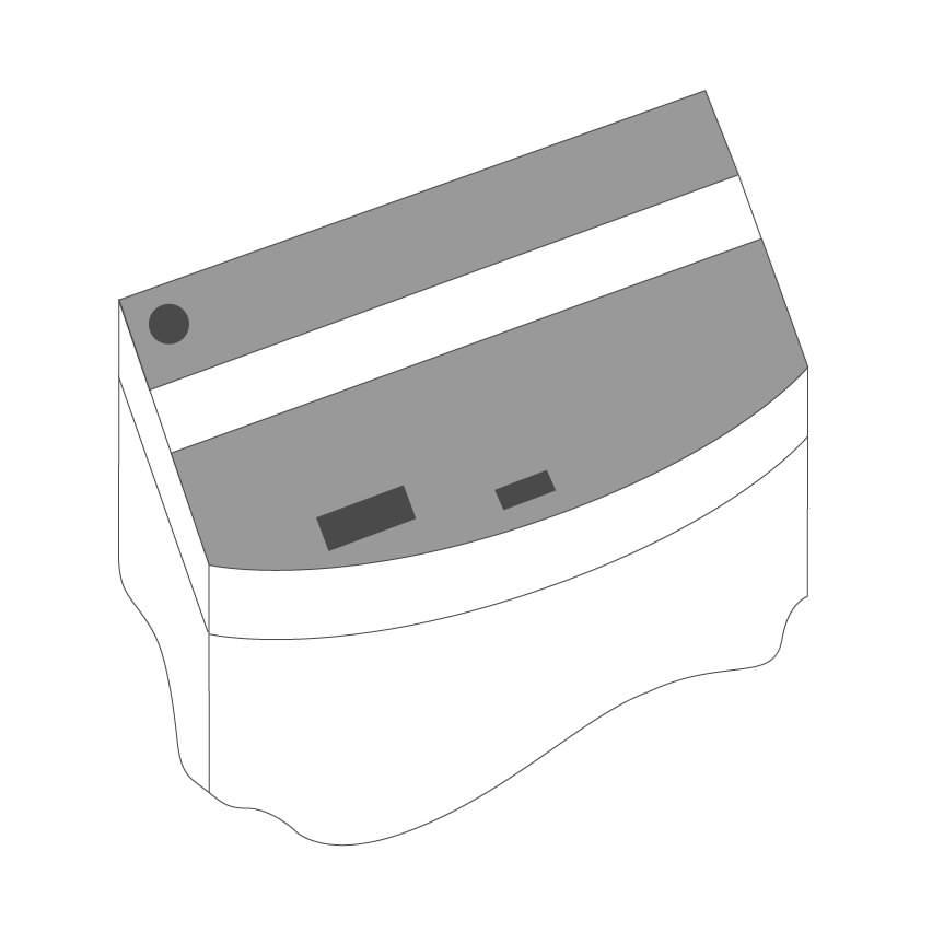 JUWEL Kit de volets de remplacement pour Aquarium Juwel Vision 180. Livré en 2 pièces