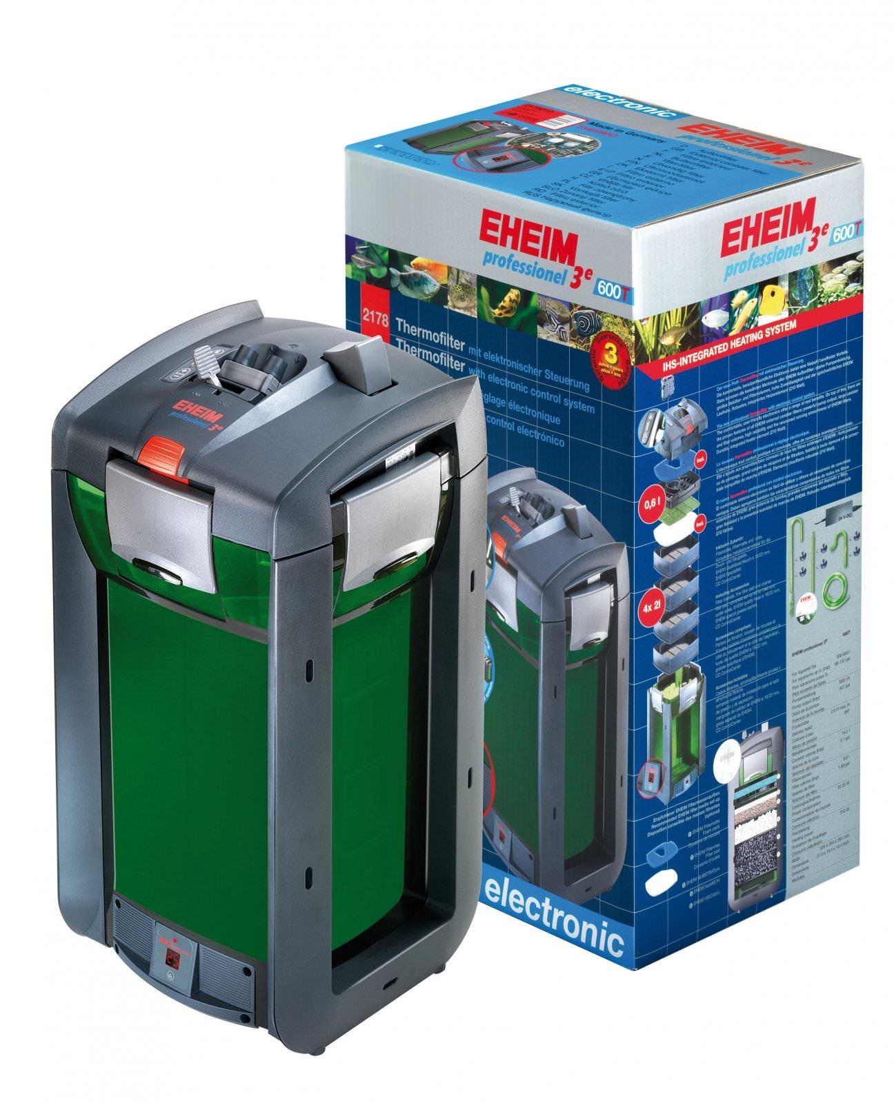 EHEIM 2178 Professionel 3e 600T filtre externe électronique avec chauffage intégré pour aquarium jusqu\'à 600L