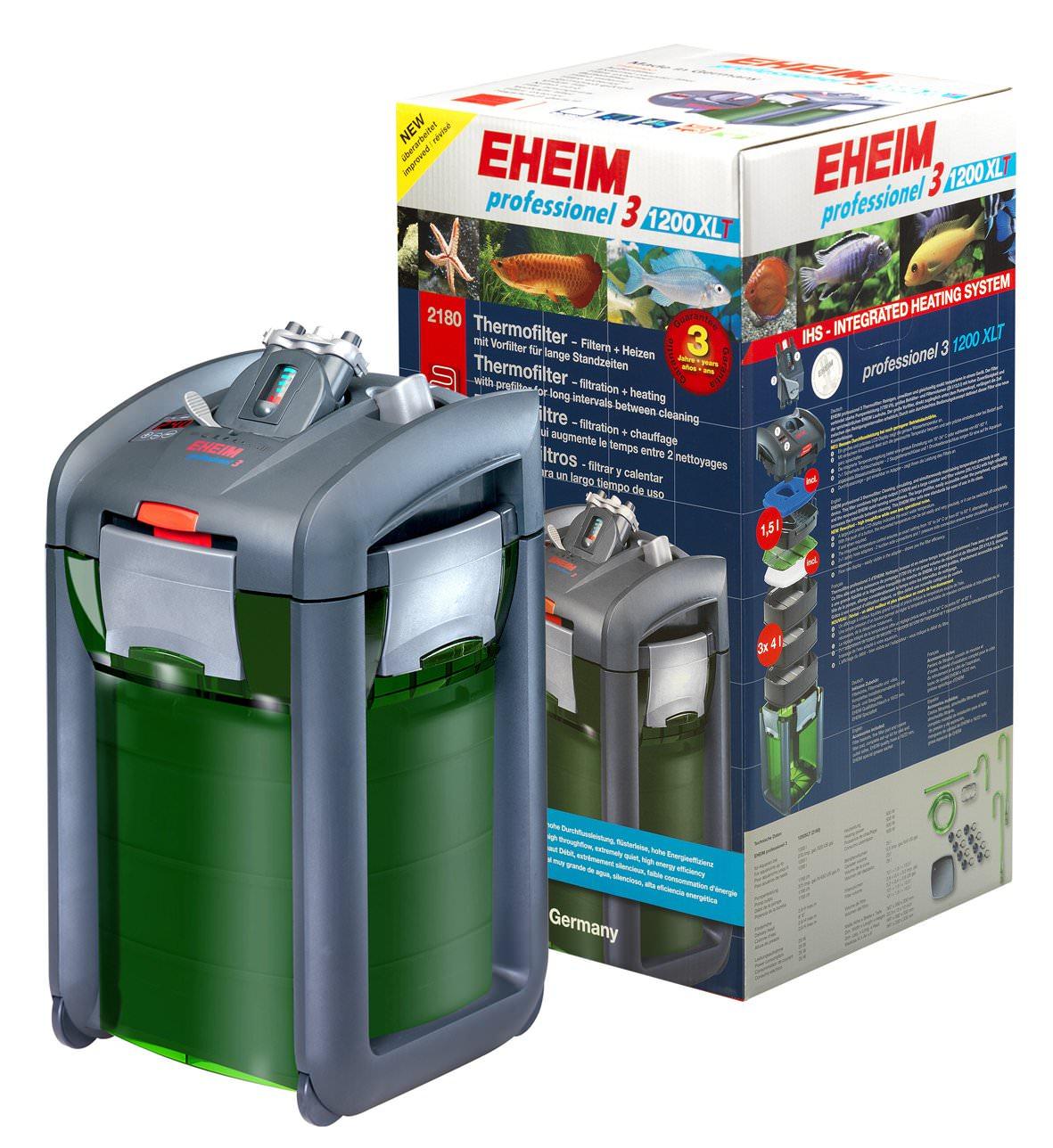 EHEIM 2180 Professionel 3 filtre externe avec chauffage intégré pour aquarium jusqu\'à 1200L